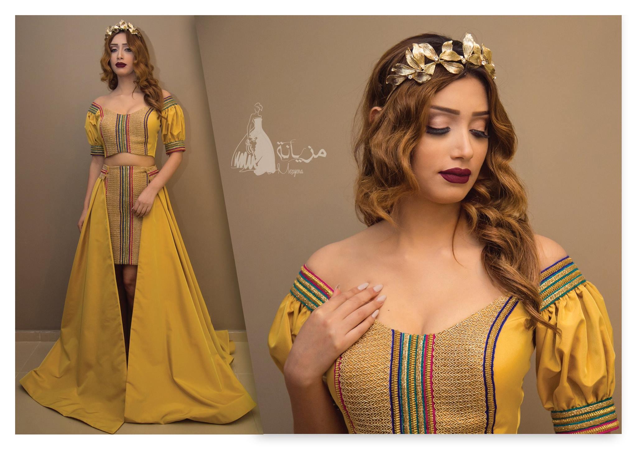 robe de bal ( cendrillon ), robe de mariée Sirène ou encore robe Outia  \u2026 Chez Mezyena , retrouvez une collections haute couture tendance et très  chic .